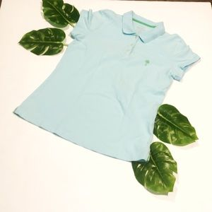 Lilly Pulitzer teal polo